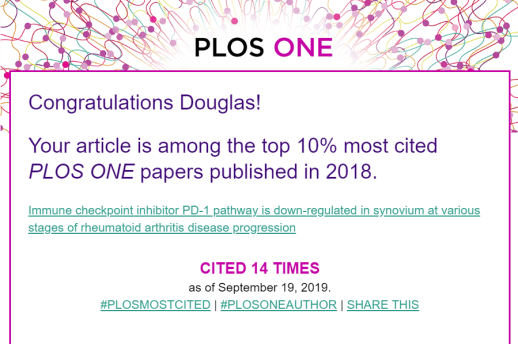PLOS ONE congrats